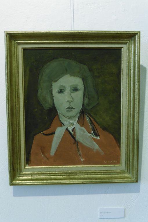 """Léon Sabatier """"Fenêtre à Yerres"""", """"Filette à la robe rouge"""", """"L'oranger de Marie"""", """"Forêt de pins""""."""
