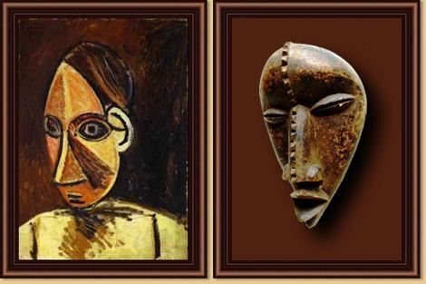 The influence of the African Art in the Picasso painting.