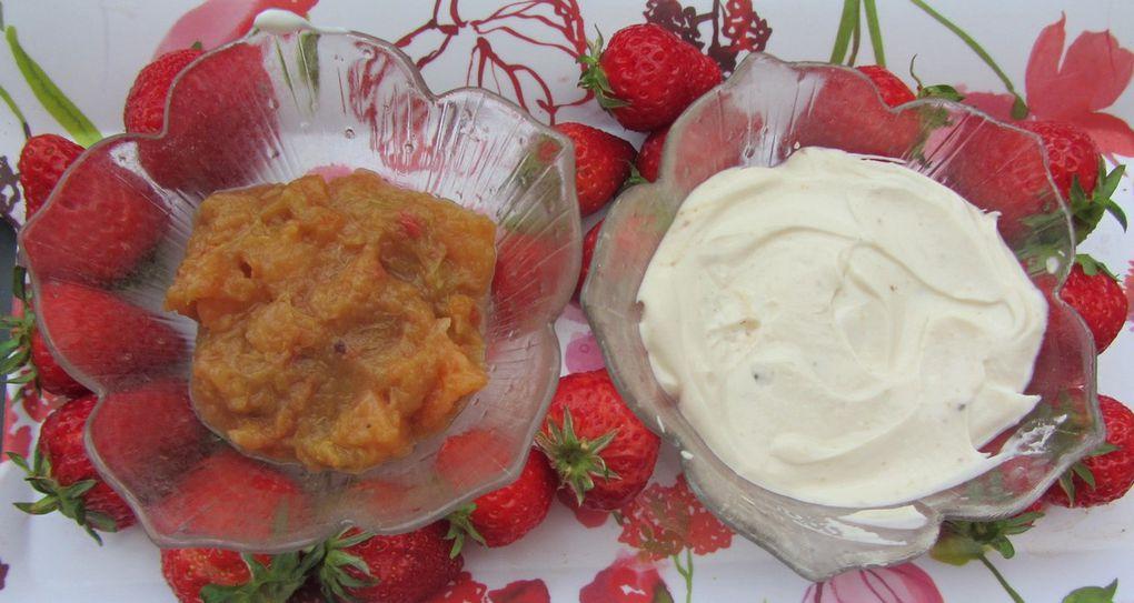 Dessert crémeux aux fraises