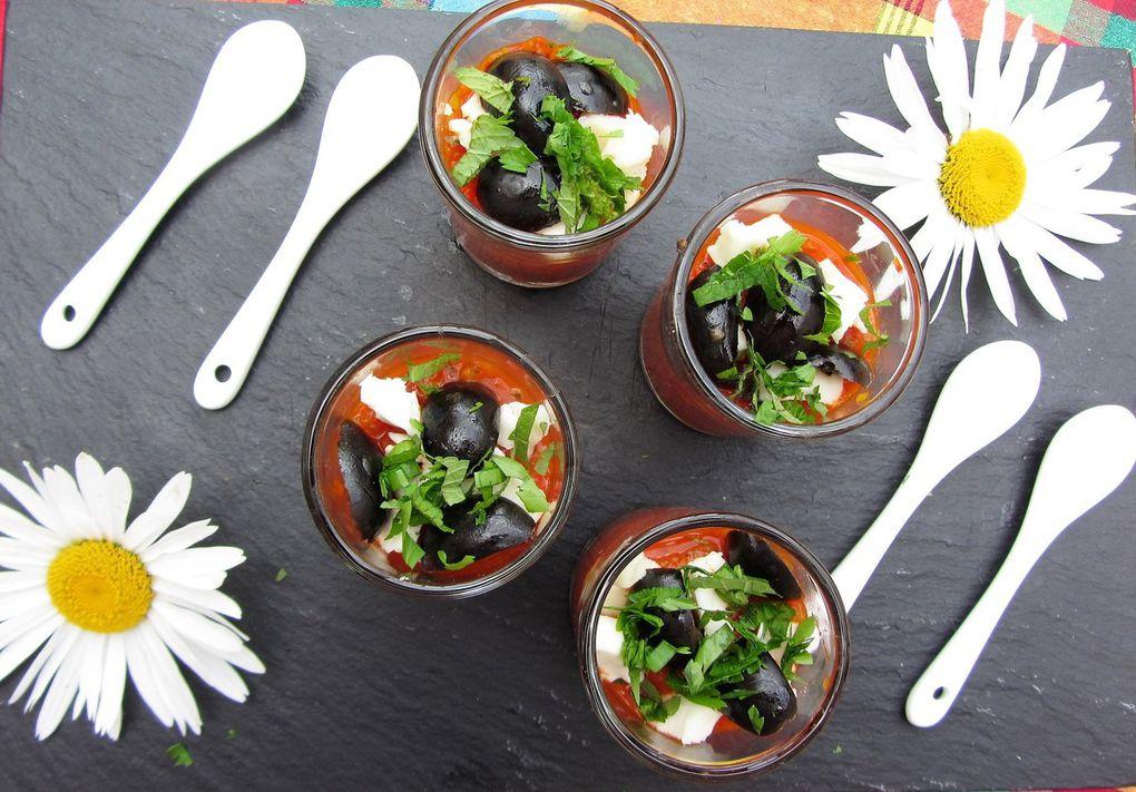 Verrines apéritives au poivron