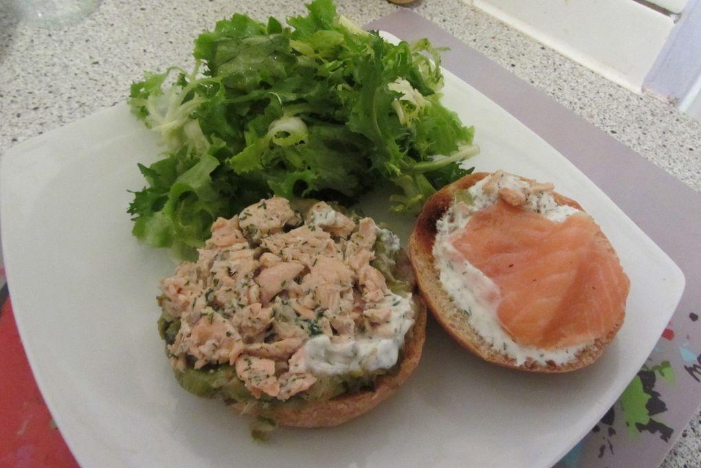 Hamburgers aux deux saumons