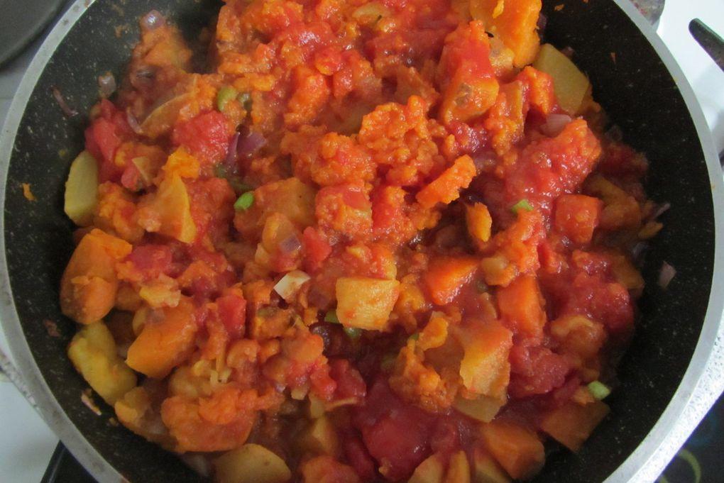 Curry de légumes orange