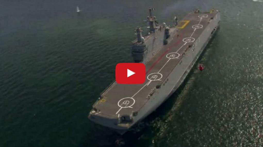 VIDEO - la Marine Egyptienne réceptionne son second porte-hélicoptères de classe Mistral