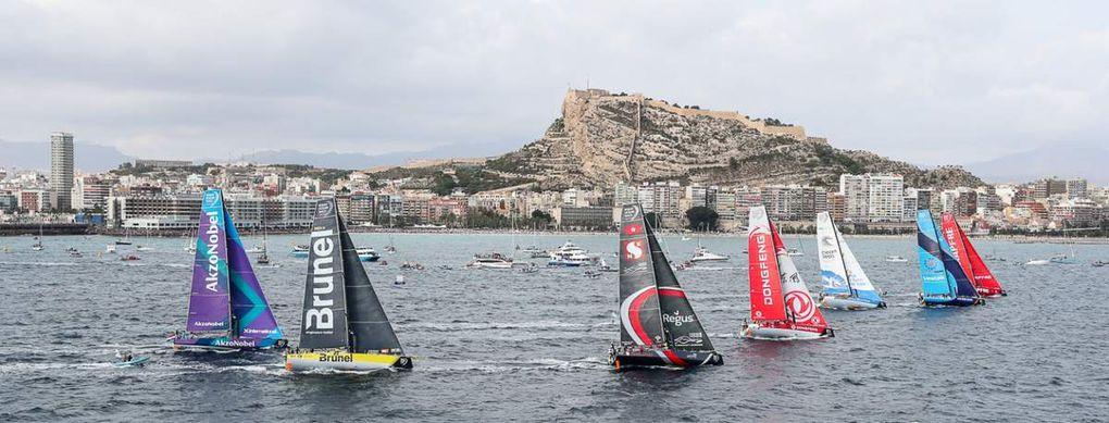 Départ réussi pour la treizième édition de la Volvo Ocean Race!