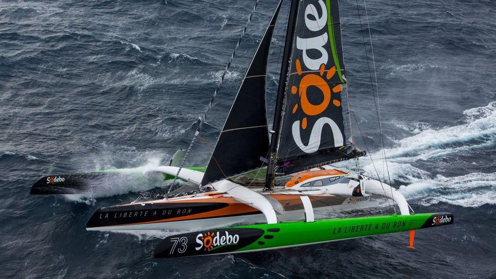 Transat Jacques Vabre: Sodebo Ultim' explose le record de la course