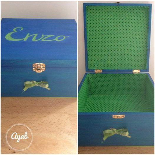 Boite bleue et verte Enzo