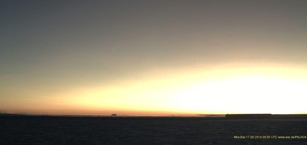 Un deuxième Soleil dans l'antartique Neumayer Palaoa