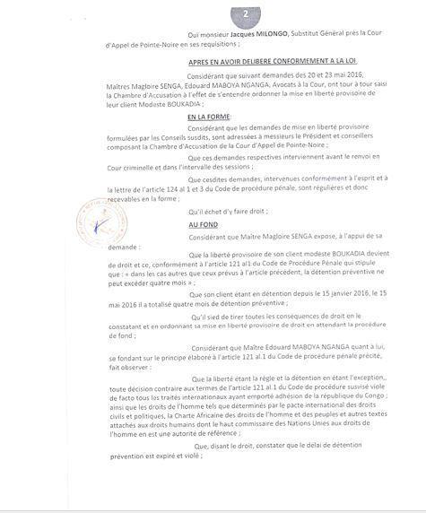 #Congo / Modeste Boukadia, prisonnier politique de Sassou !