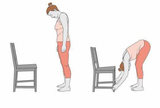 3 exercices de yoga sur une chaise pour mieux dormir le soir