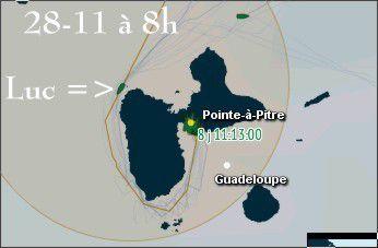Luc Coquelin arrivé à Pointe à Pitre le 28 novembre à 21:07:17 h Fr… Heures!