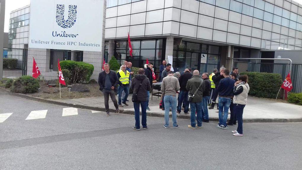 Grève chez Unilever France HPC I usine de Le meux
