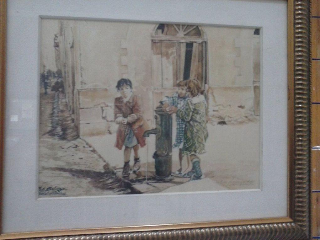 Une visite au salon de l'aquarelle.