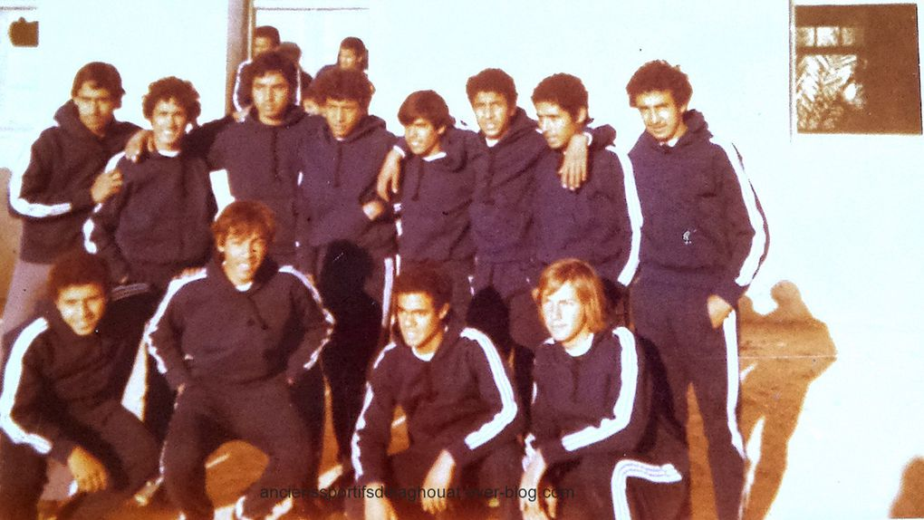 Photo de l'IRBL en janvier 1978,match disputé contre l'ONACO Ghardaia  sur son terrain .Match gagné par 4 but a 0