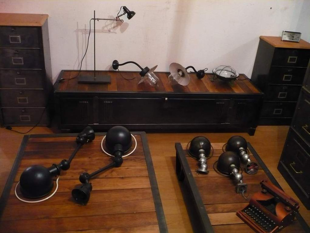 Meubles TV - simple ou double - plateau bois ou tout métal / CLIQUER pour faire défiler !!!
