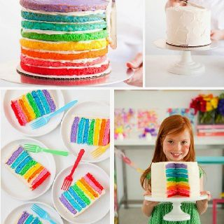Gâteaux en couleurs / Rainbow cake