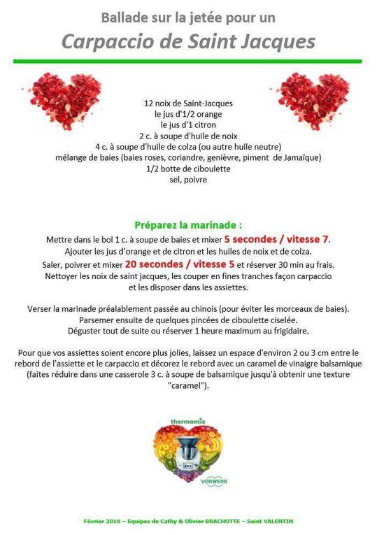 Idées de repas en amoureux (St Valentin ou pas) au Thermomix
