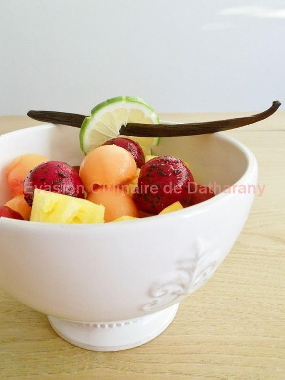 Fruits exotiques version salade ou en brochettes