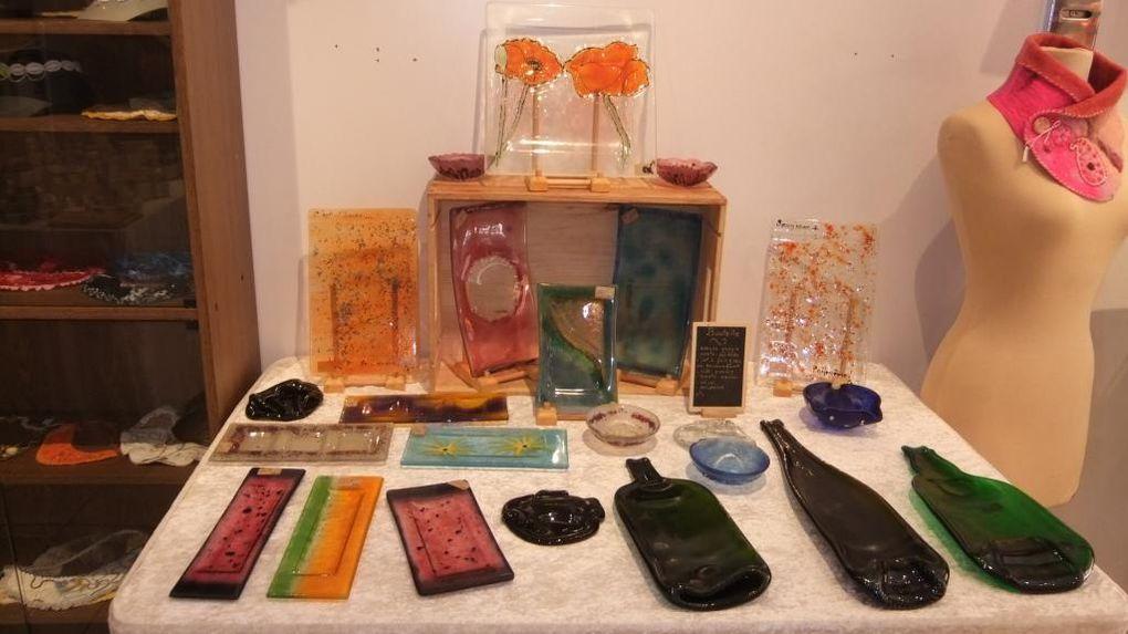 Voici quelques unes des créations de Callipierreverre telles qu'elles ont été exposées dès le début juin 2014 à l'é-fée-mère