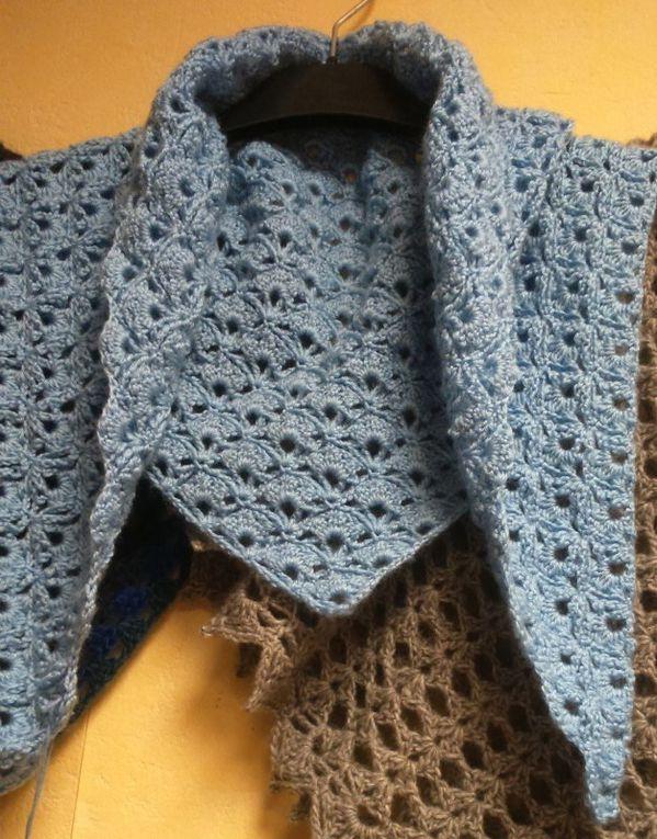 Les écharpes et les châles au crochet de Titlaine- Hiver 2015