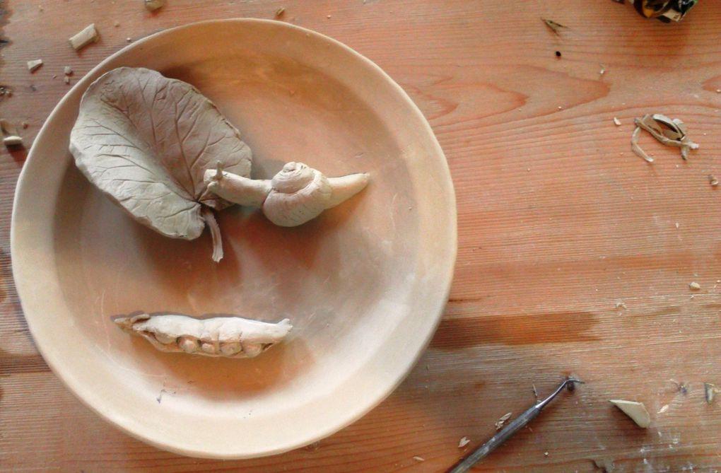 Voici une sélection des objets réalisés et un aperçu du déjeuné &#x3B;-)