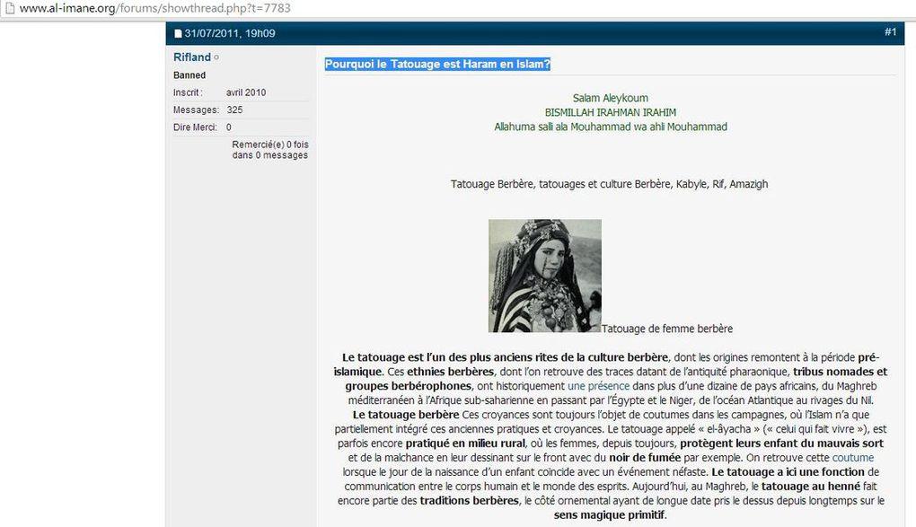 Interdiction de la chicha, des tatouages traditionnels berbères, de participer à des fêtes non-musulmanes, de poser une fleur sur un coran, a fortiori de poser un coran par terre...