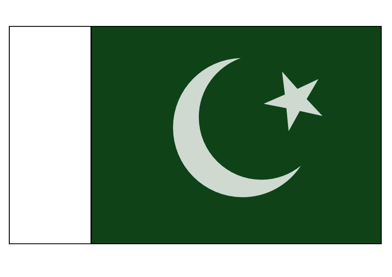 Dans l'ordre : Tunisie, Pakistan, Turquie, Algérie, Malaisie. On notera que l'Arabie Saoudite, le Qatar, les Emirats Arabes Unis et la Jordanie ont des formes de drapeau sensiblement différentes.
