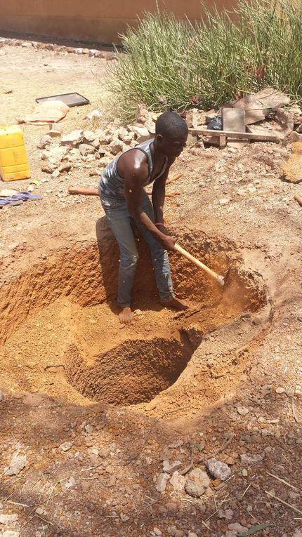 Avancées dans la construction du puits du lycée!
