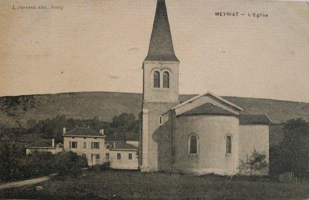 Cartes postales anciennes de l'église de Meyriat