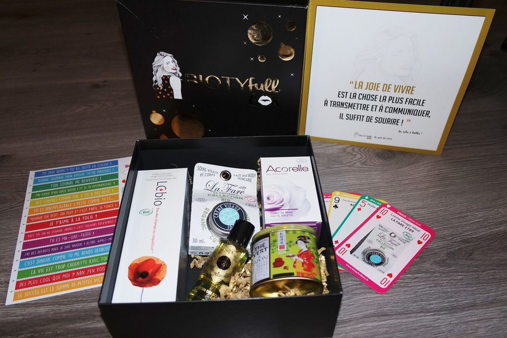 BiotyFullBox de décembre: ma box bio