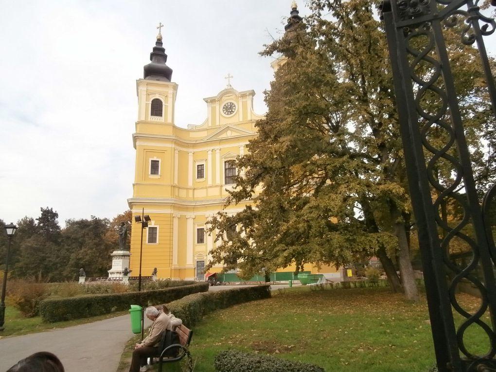 Rodica et Paul nous font visiter la basilique roman catholique et le musée des richesses en passant par le parc Sandor Pétofi , poète hongrois 1823-1849