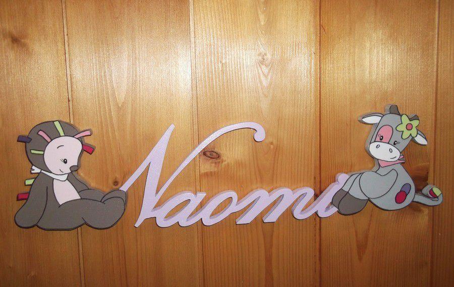 Prénom décoratif en bois avec Manon et Alizée