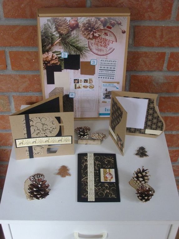 Kit cartes de noel Kraft