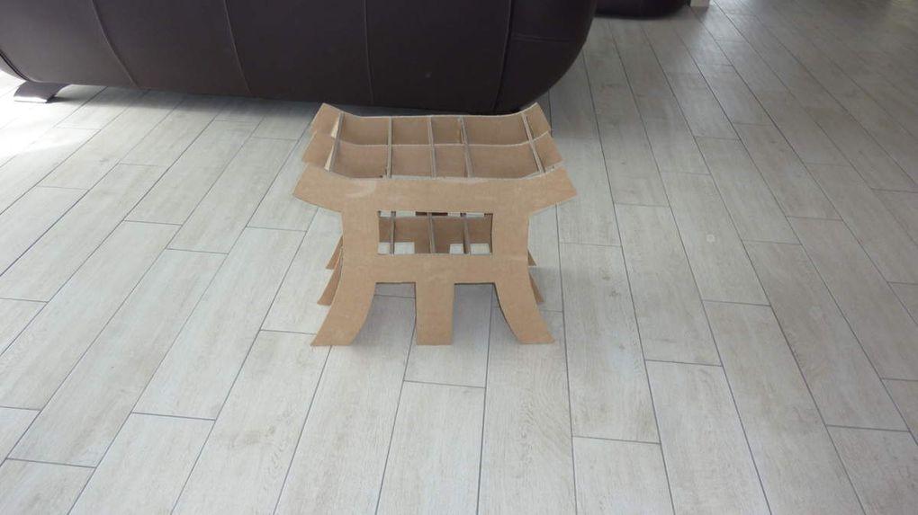 tabouret ming en carton
