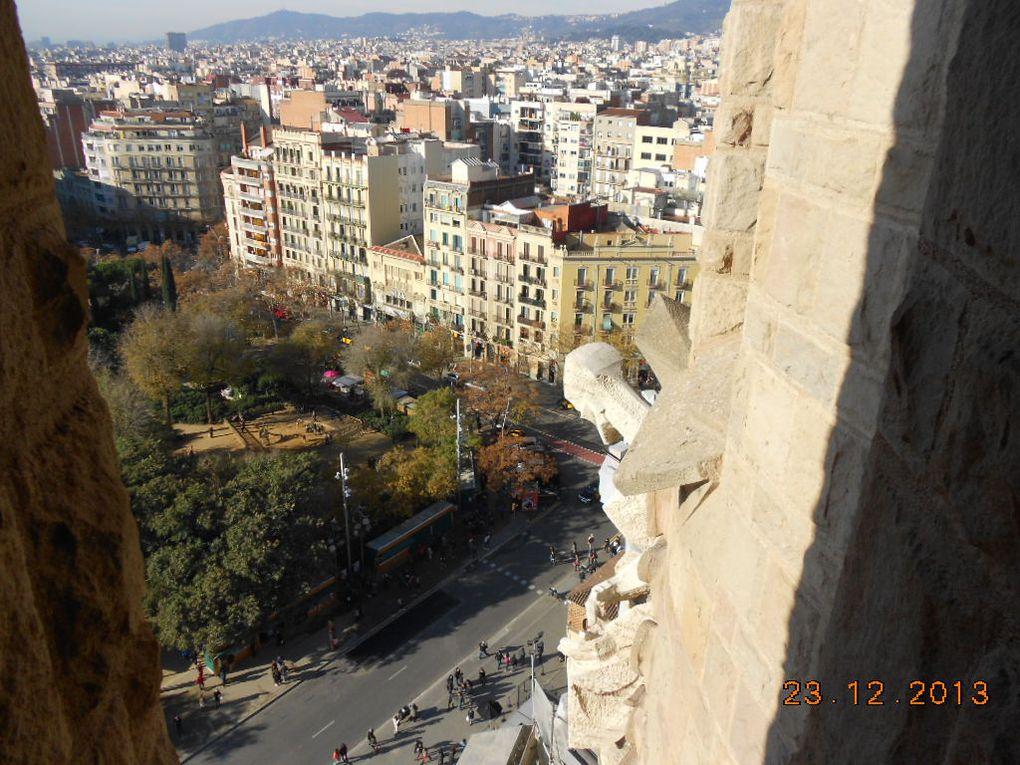 Barcelone et Sagrada familia (Gaudi)