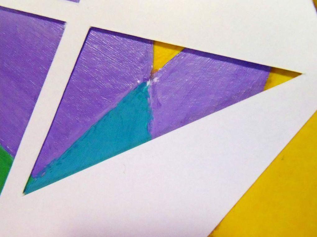 Kaléidoscope - Acrylique et papier découpé