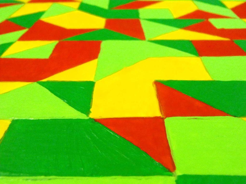 Seventies - Acrylique et papier découpé