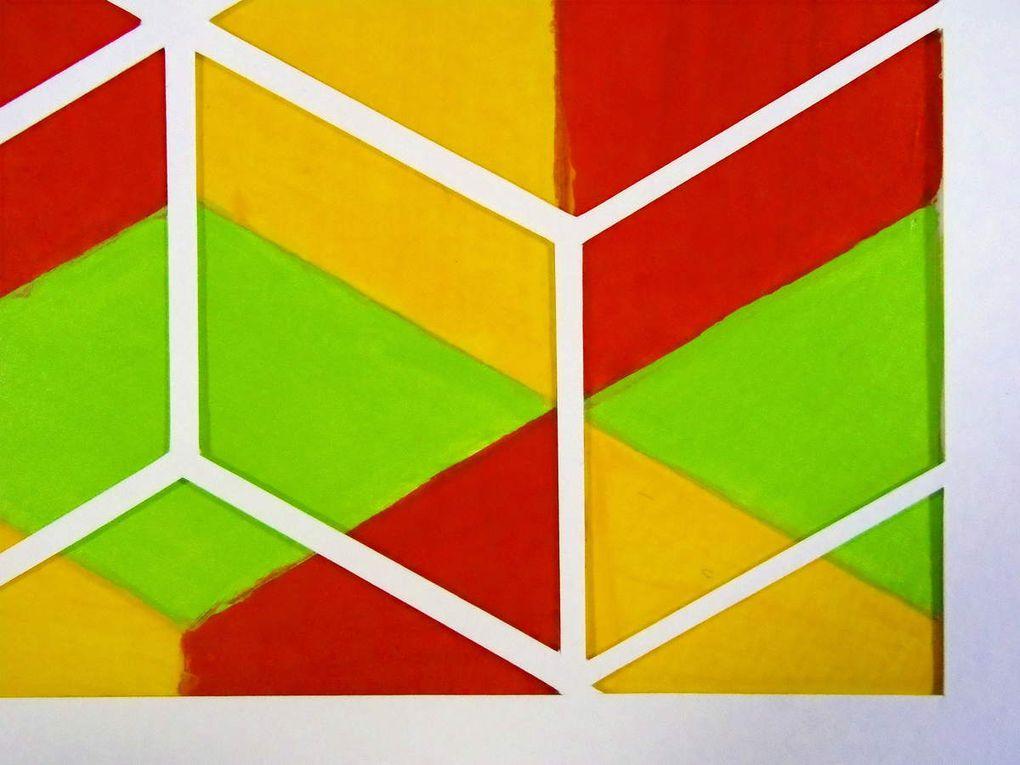 Illusion - Acrylique et papier découpé