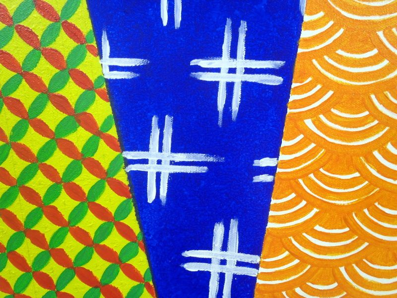 Japanese traditional patterns - Acrylic on canvas