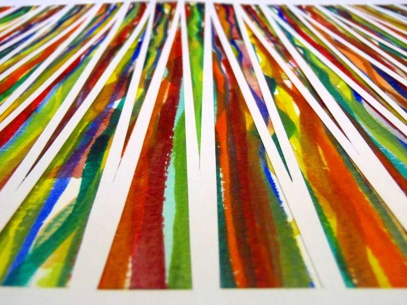 Focus - Watercolour and papercut