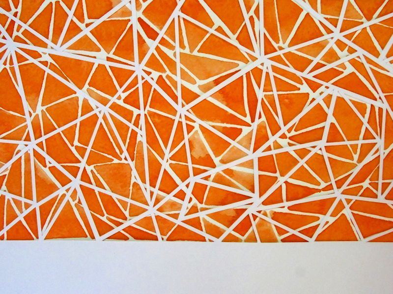 Multiplication - Watercolour and papercut
