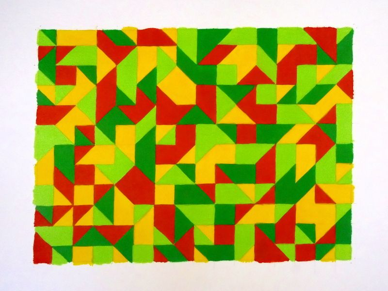 Seventies - Acrylic and papercut
