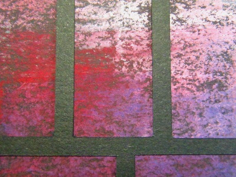 Rectangularisation - Dry pastel and papercut