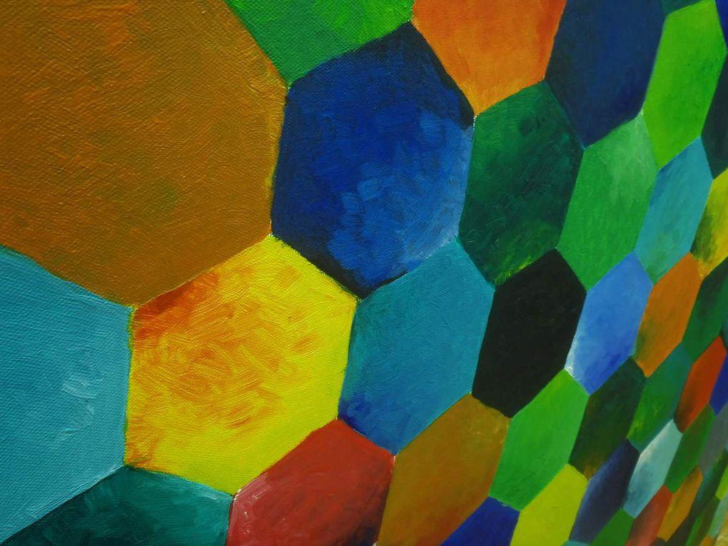 Highlands - Acrylique sur toile &#x3B; 100*100 cm