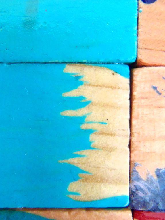 Kapla - Peinture sur bois &#x3B; 50*100 cm