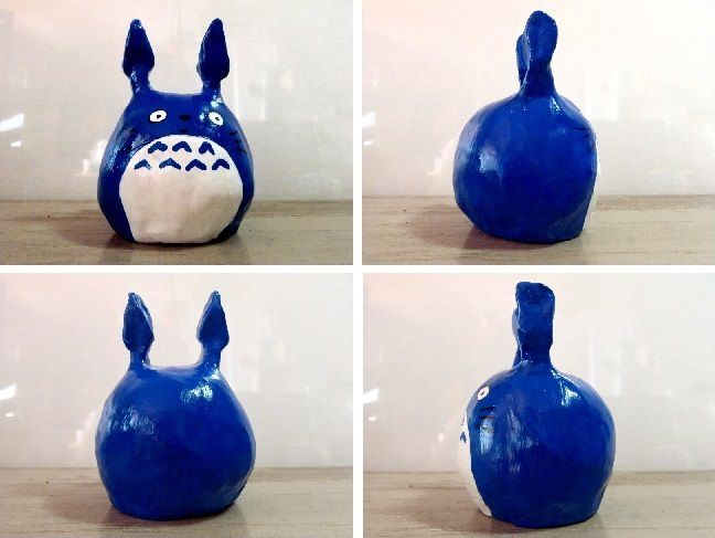 Tokyo Totoro - Painted and varnished argile sculpture (around 10-11 cm)