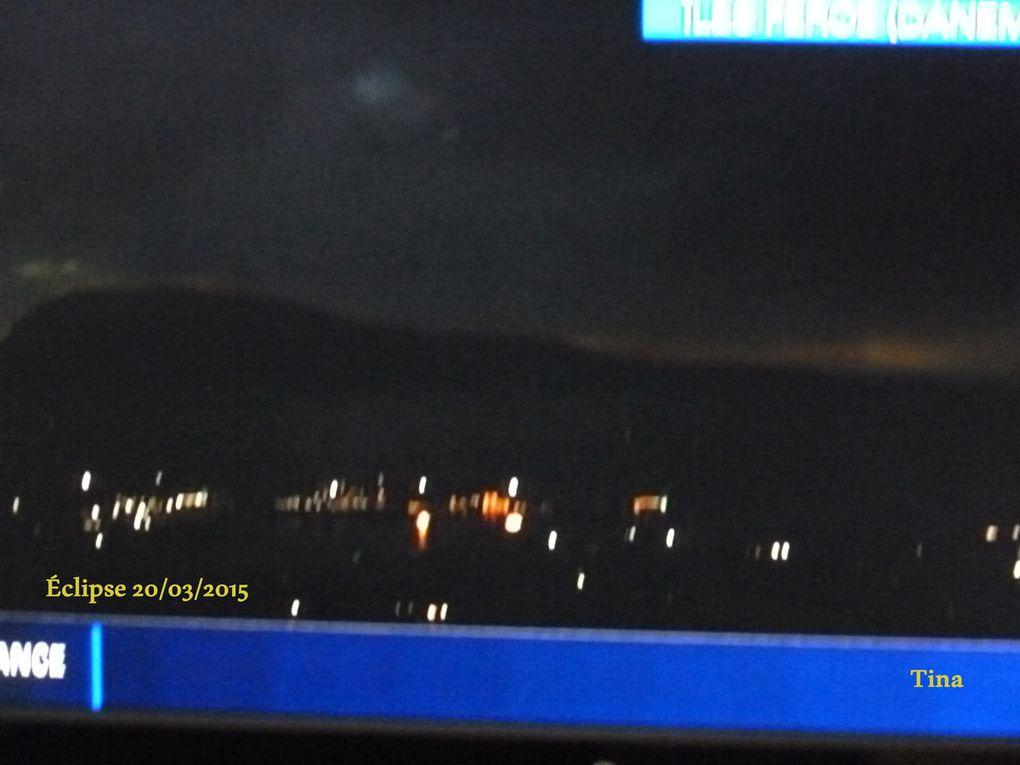 Iles Férroé pendant l'éclipse. Source Télévision