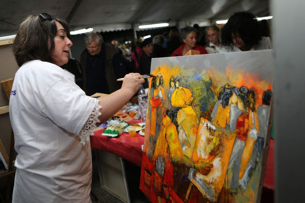 Nathalie MONTEL artiste peintre du Gard présente aux Rencontres 2015