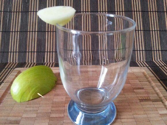 pomme en éventail pour délicieux cocktail