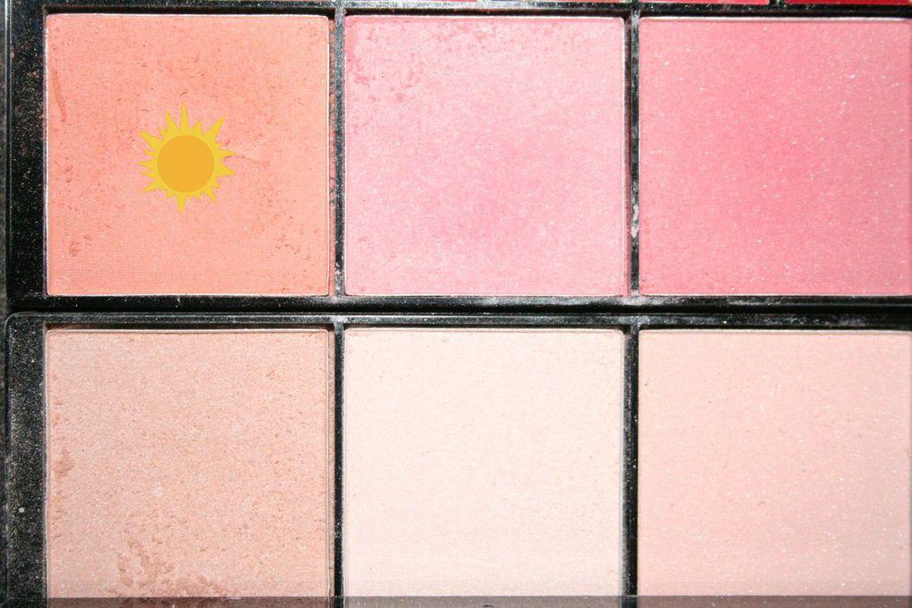 Maquillage coloré d'été �