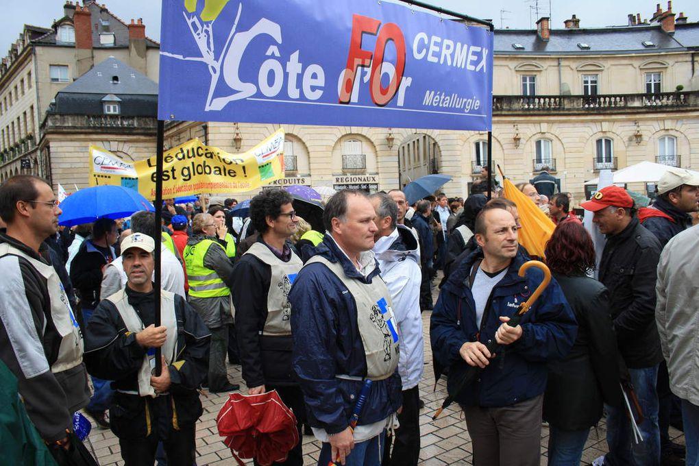 Manifestation à Dijon contre la réforme des retraites le 07 septembre 2010